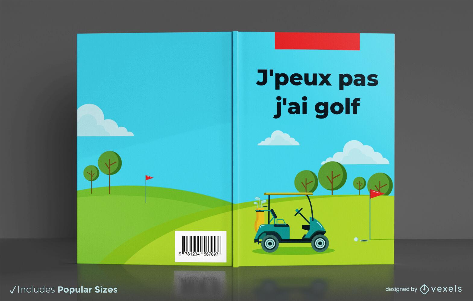 Diseño de portada de libro de registro de puntaje deportivo de golf