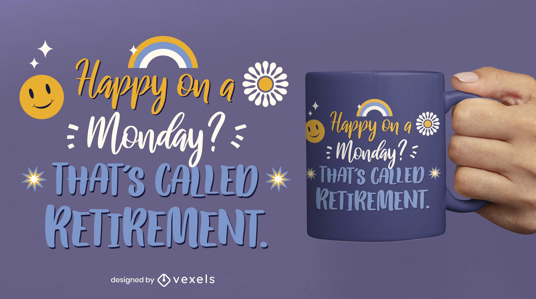 Diseño de taza de cita de jubilación