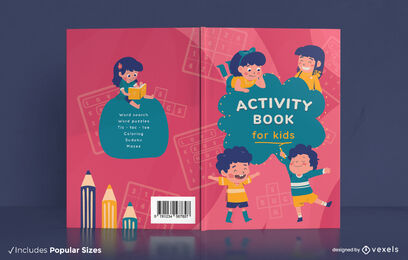 Childrens activity book cover design
