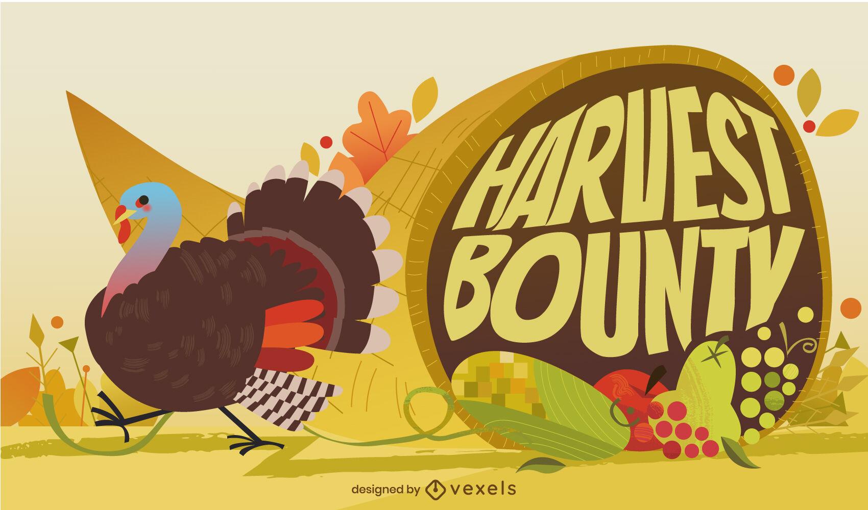 Turkey thanksgiving holiday illustration