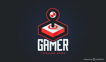 Gaming joystick 3D logo template