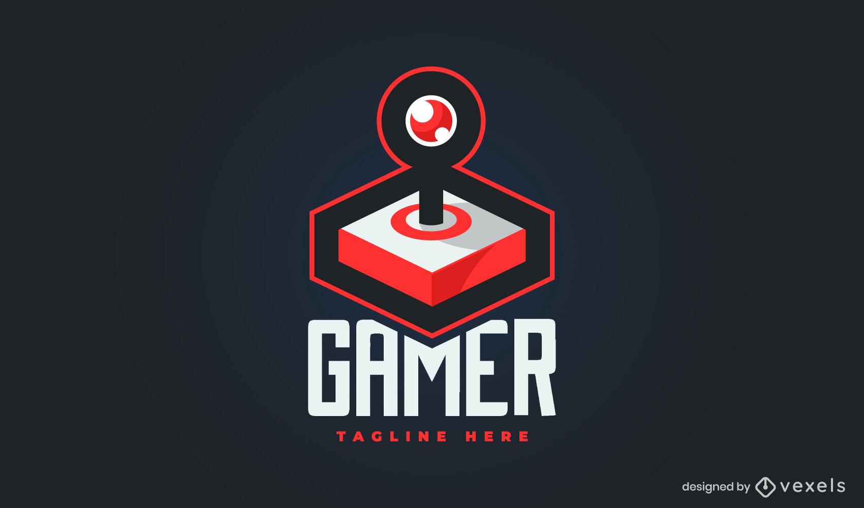 Modelo de logotipo 3D para joystick de jogos