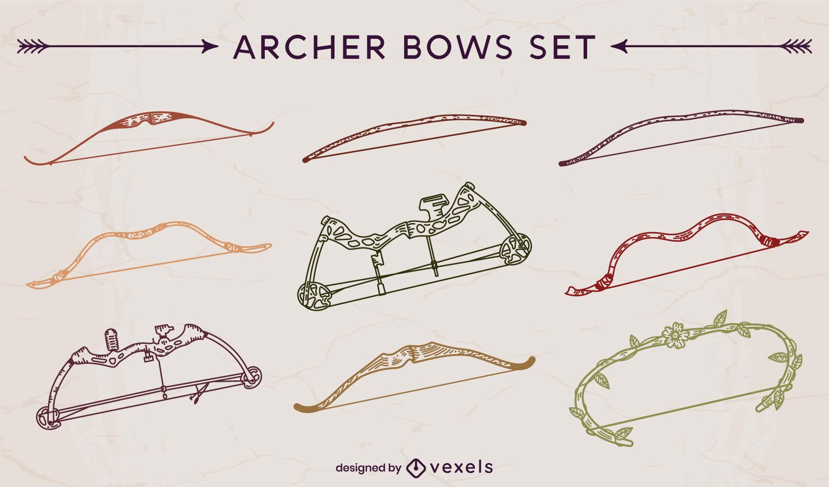 Archer bows stroke set