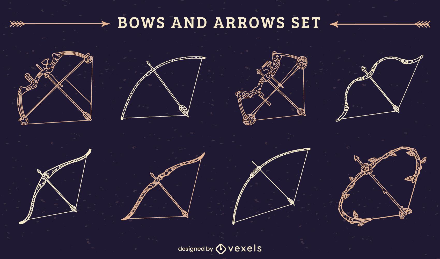 Conjunto de trazo de arcos de arquero