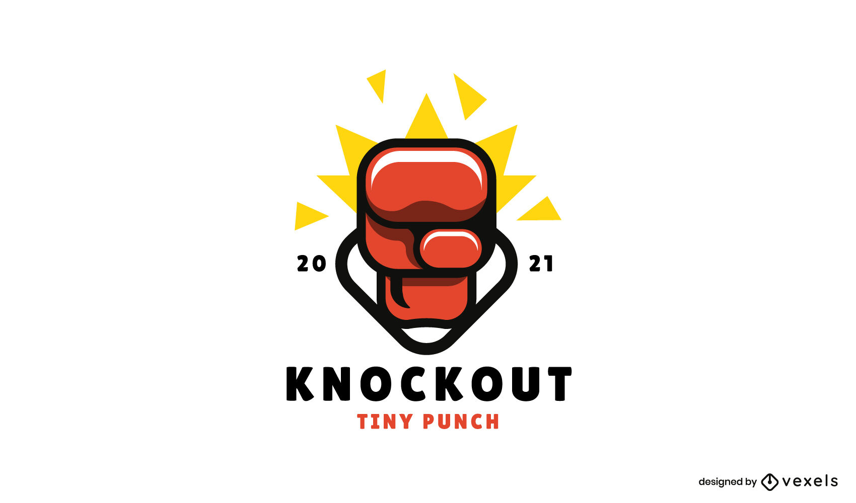 Logotipo brillante de guante de boxeo