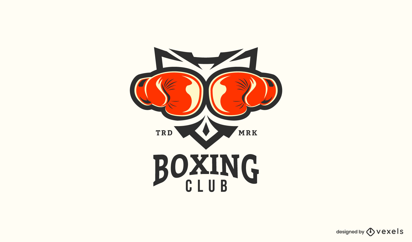 Boxing gloves logo template