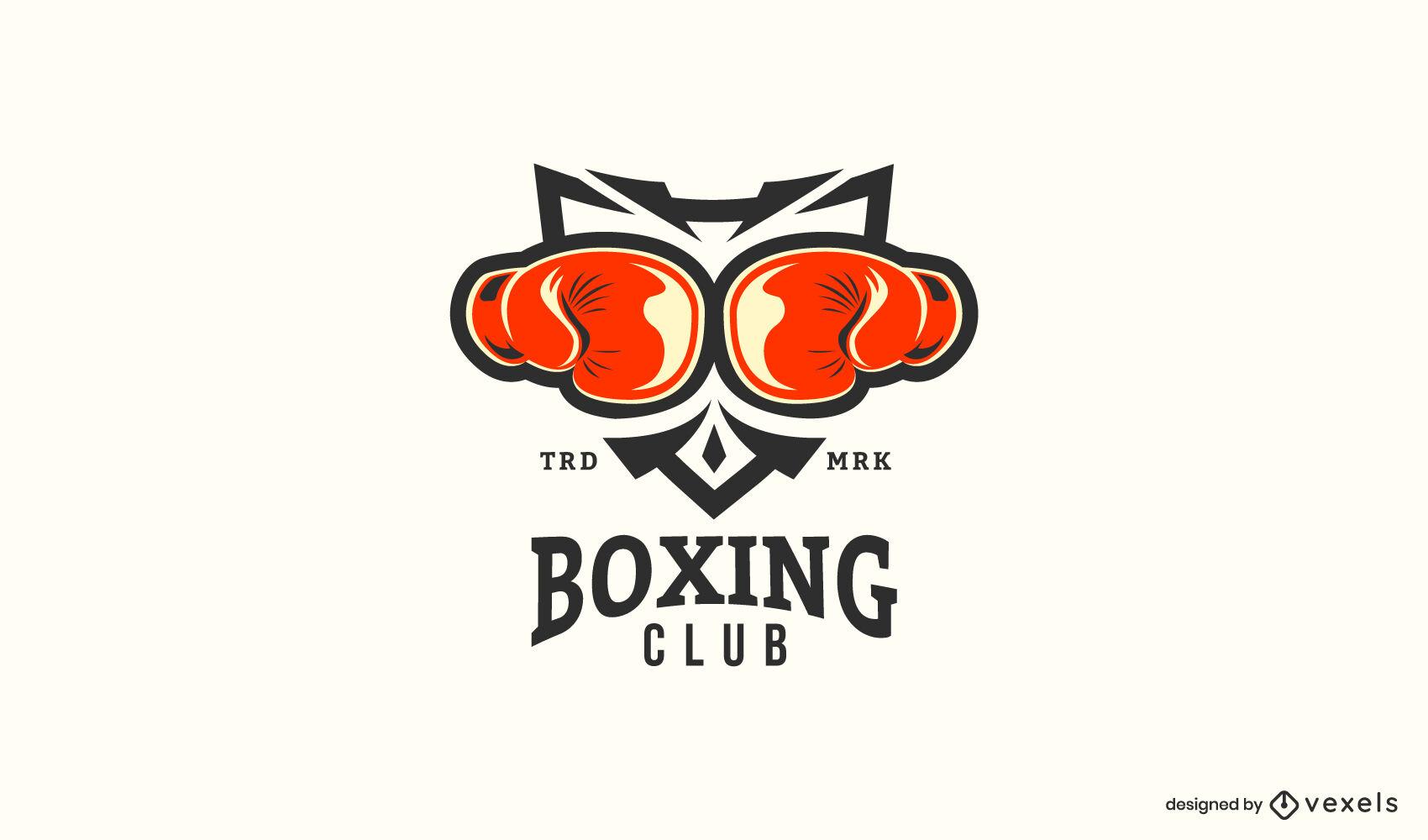Plantilla de logotipo de guantes de boxeo