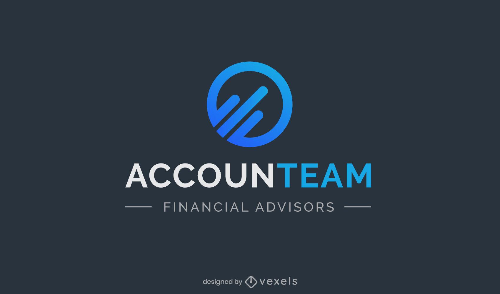 Accounting geometric elements gradient logo
