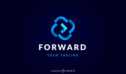 Forward arrow geometric shapes logo