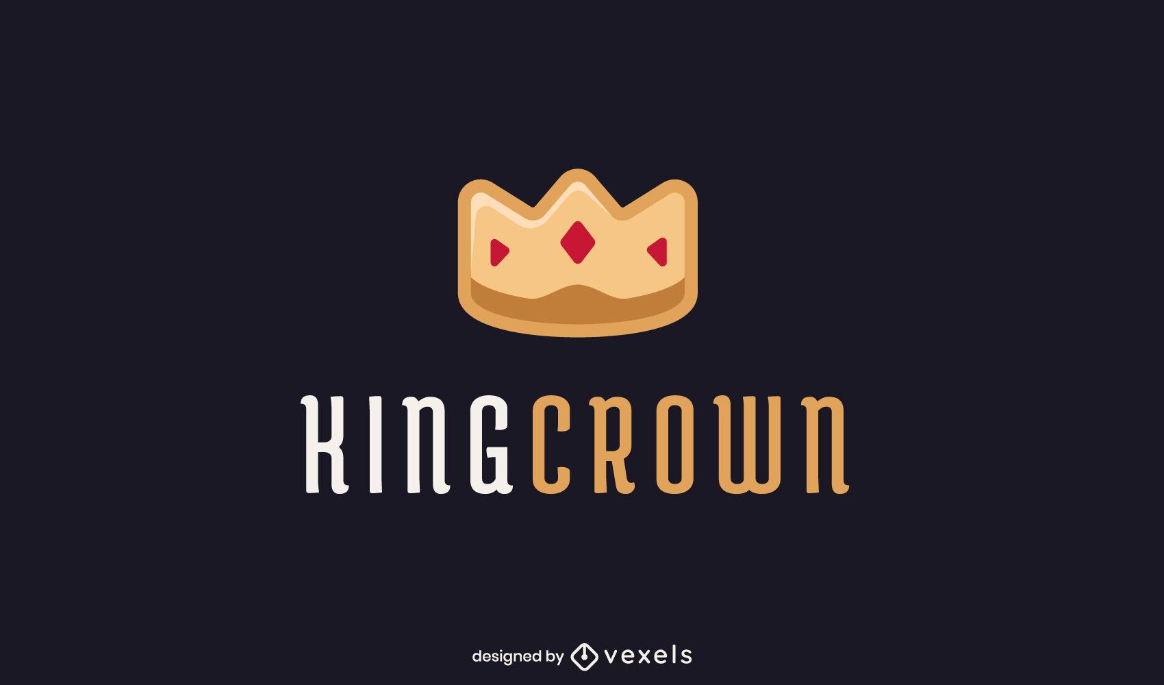 Plantilla de logotipo de realeza de rey de corona dorada