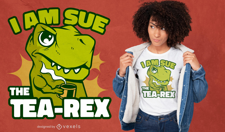 El diseño de la camiseta tea-rex