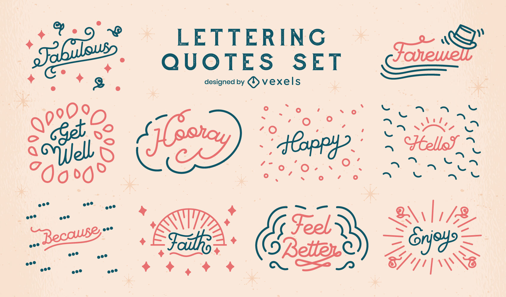 Good vibes quotes lettering badges