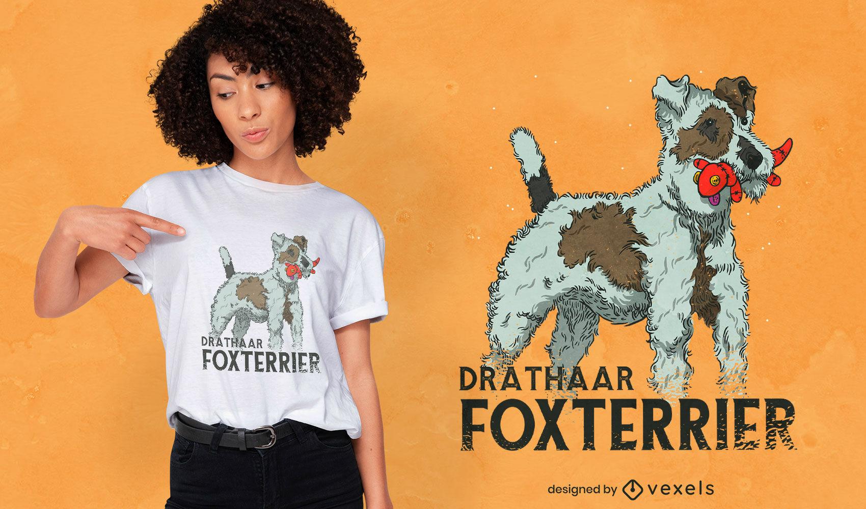 Diseño de camiseta fox terrier