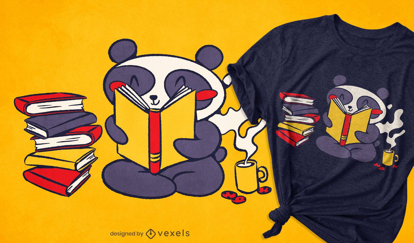 Panda-Lese-T-Shirt-Design