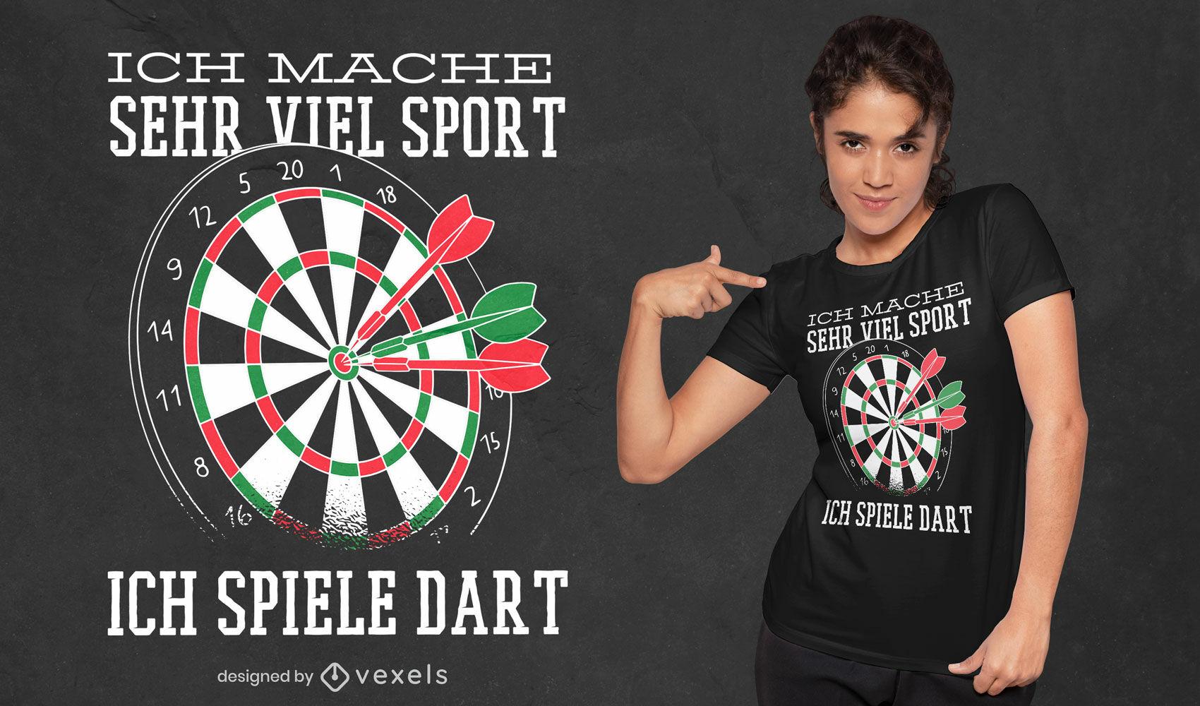 I play darts t-shirt design
