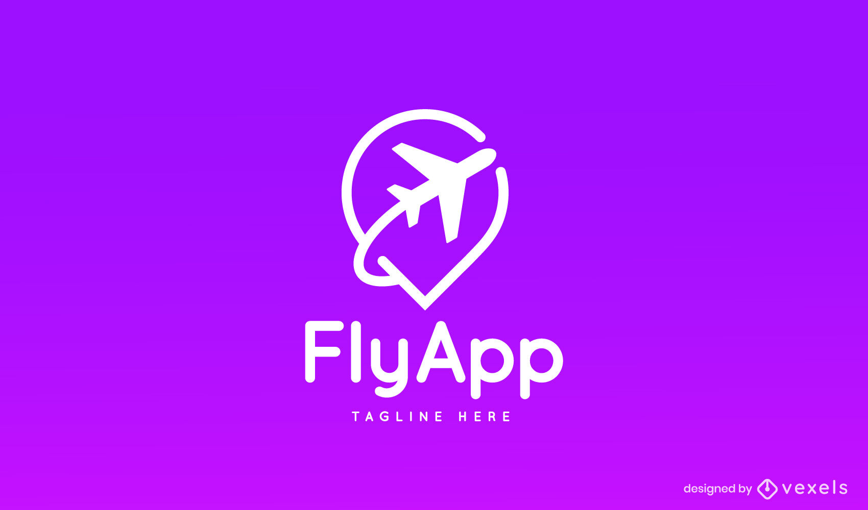 Airplane flying silhouette travel logo template