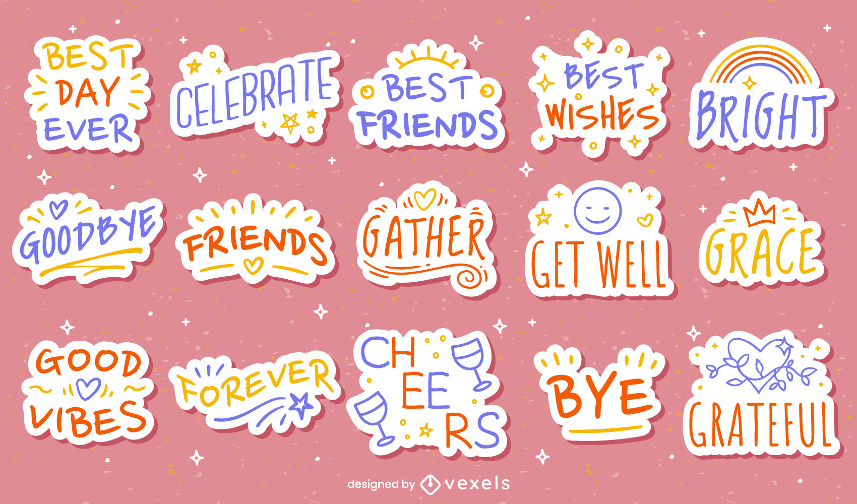 Positive motivation sticker quotes