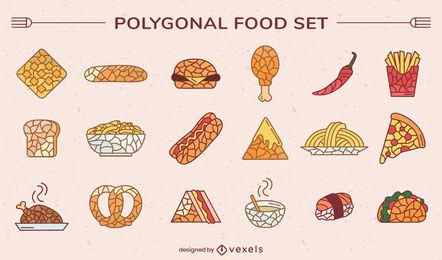 Polygonal fast food set