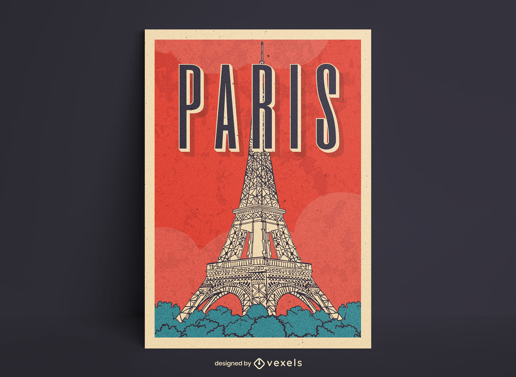 Eiffelturm Paris Linie Kunst Poster Design