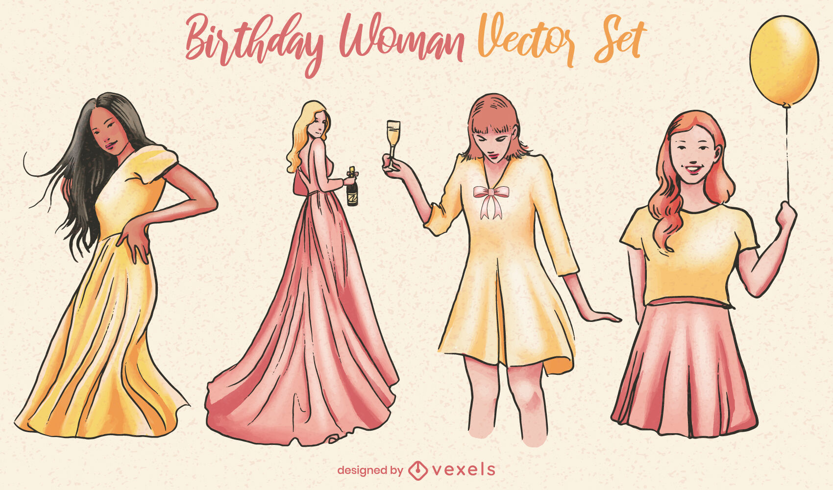 Fancy women birthday party set