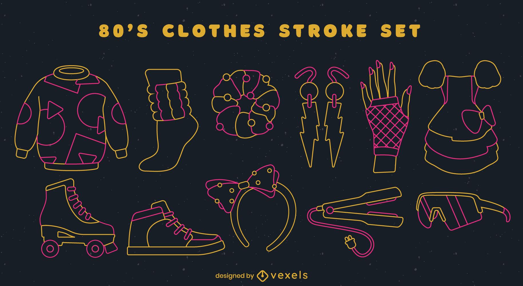 80s clothing set stroke