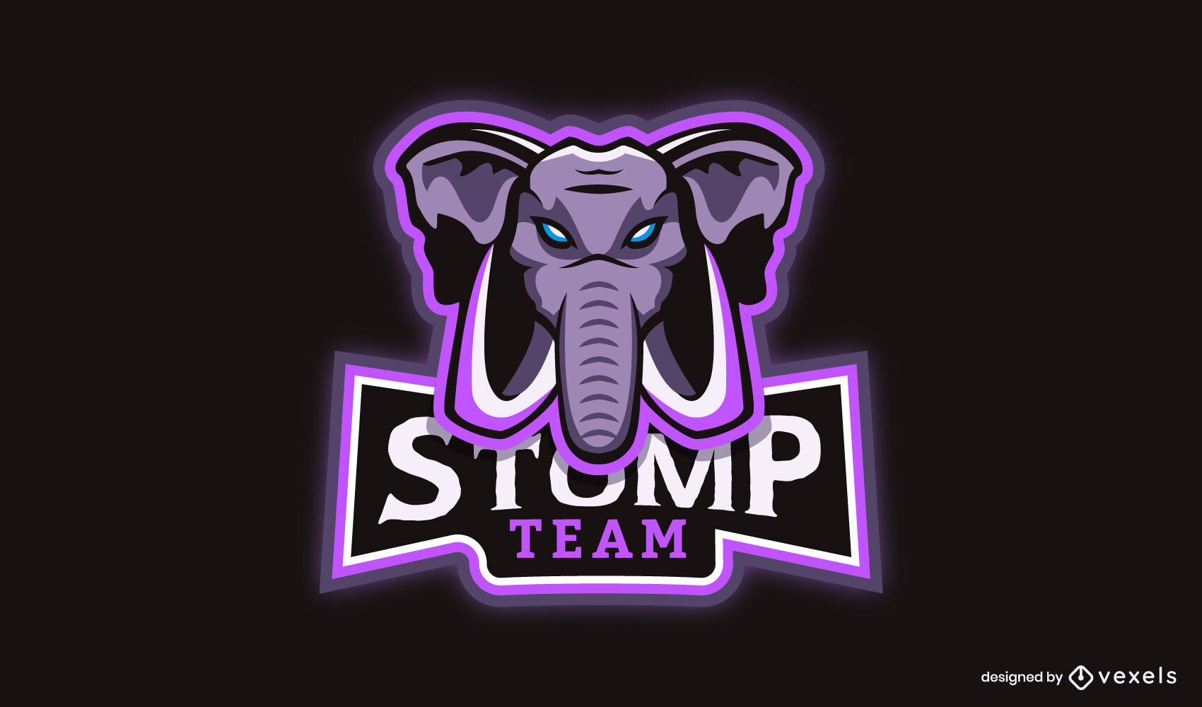 Elephant wild animal gamer logo design