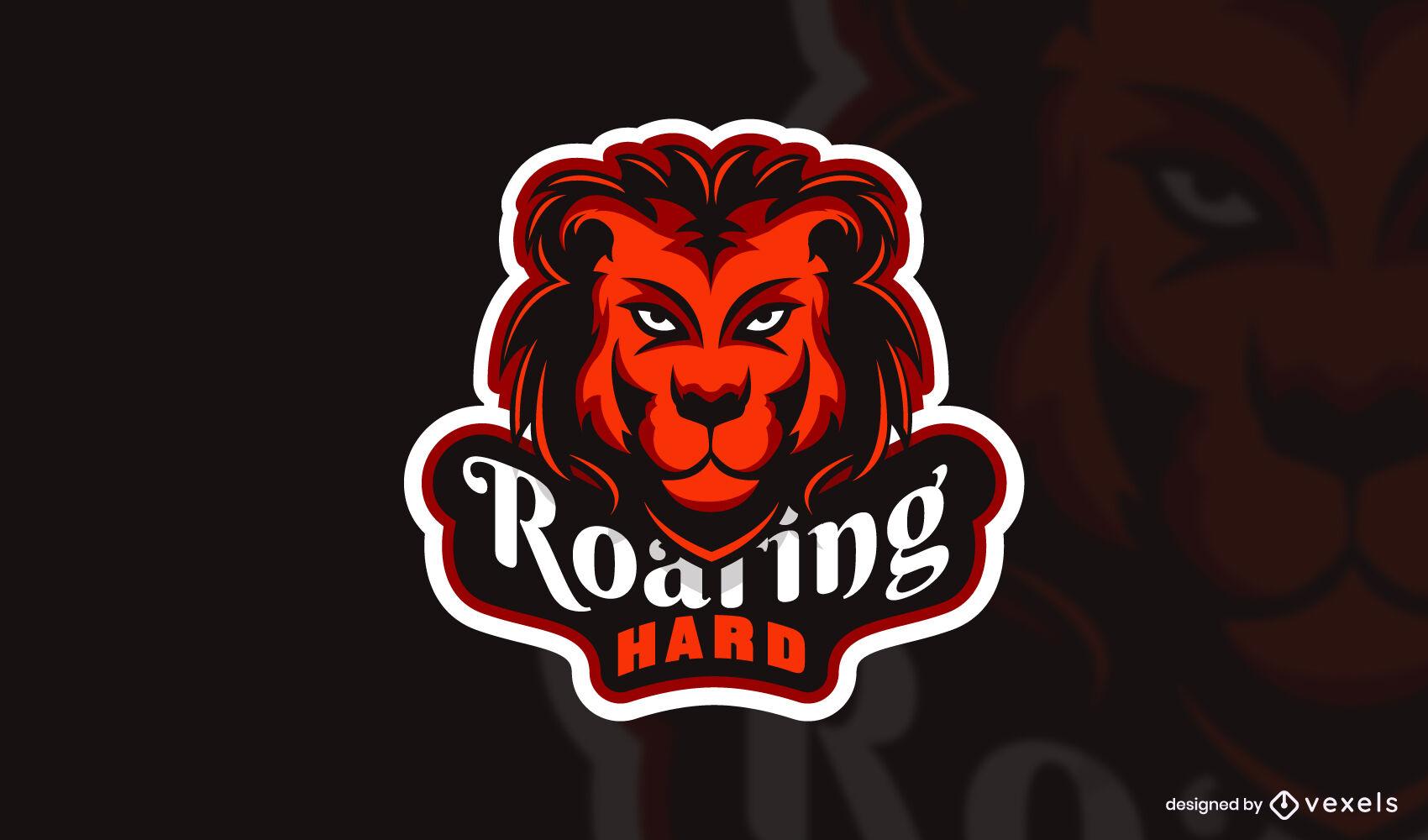 Lions head wild animal gamer logo template