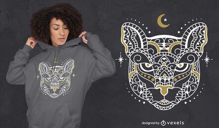 Diseño de camiseta de animal salvaje Mandala tiger
