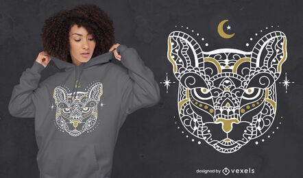 Mandala tiger wild animal t-shirt design