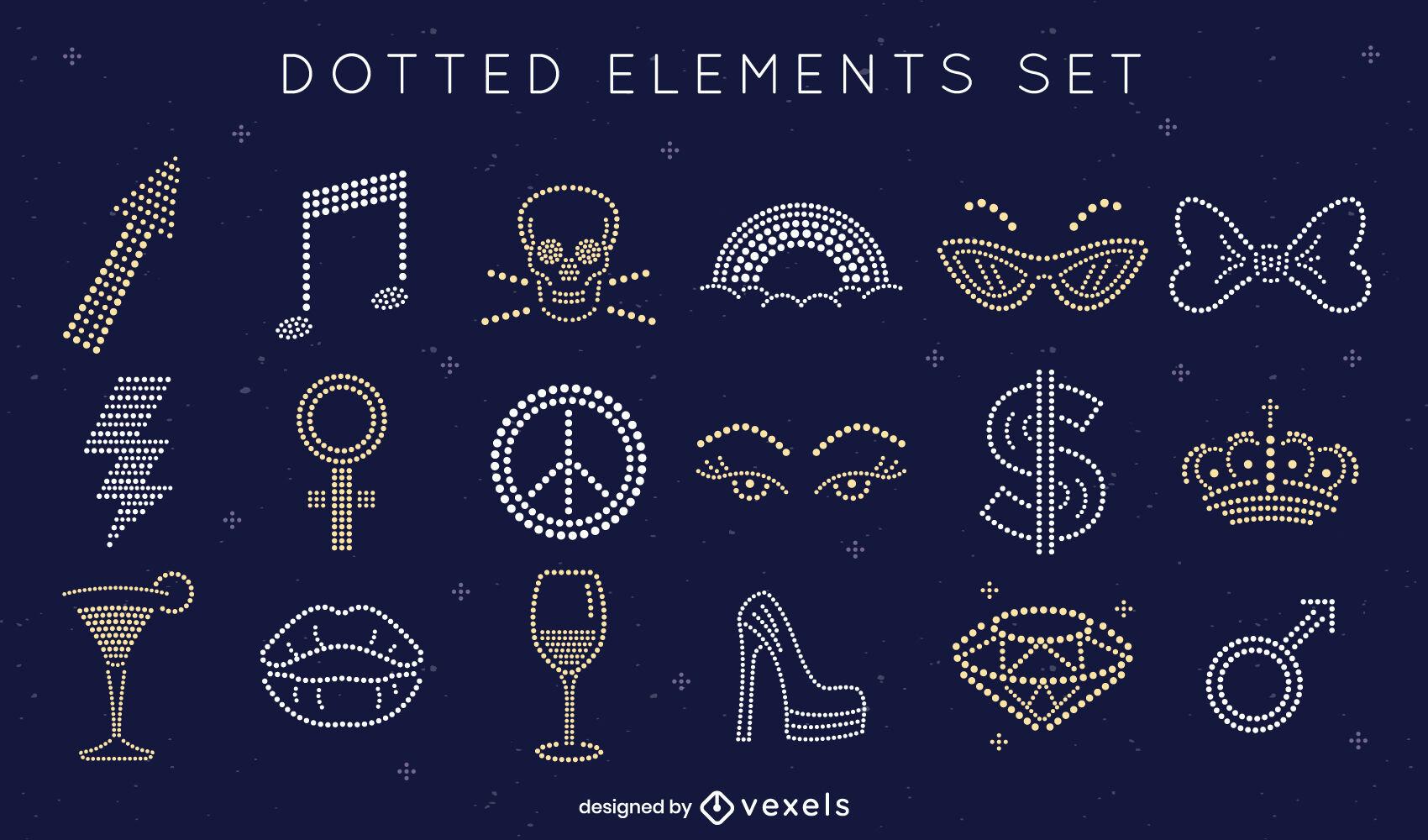 Elementos punteados simples