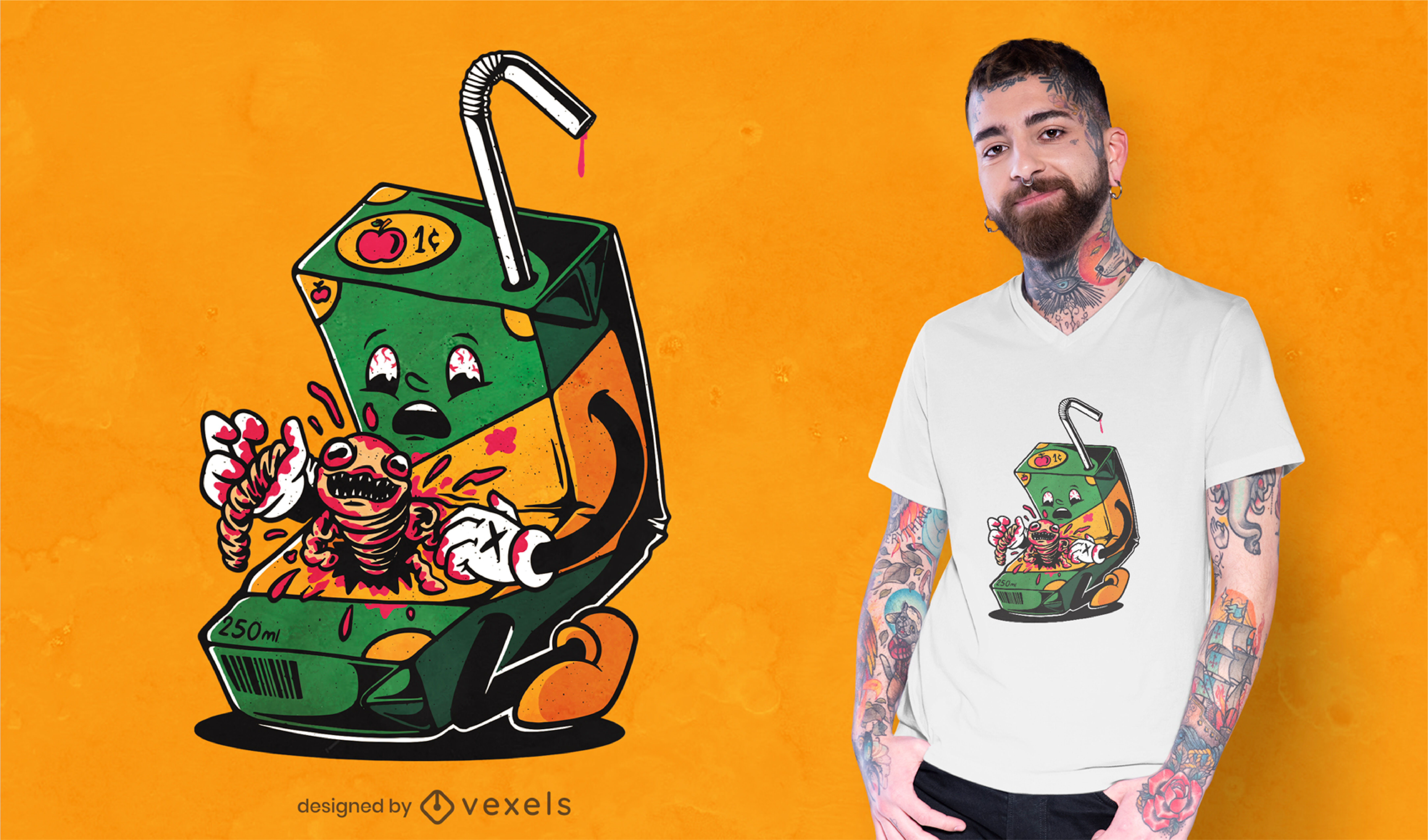 Juice box horror drink t-shirt design