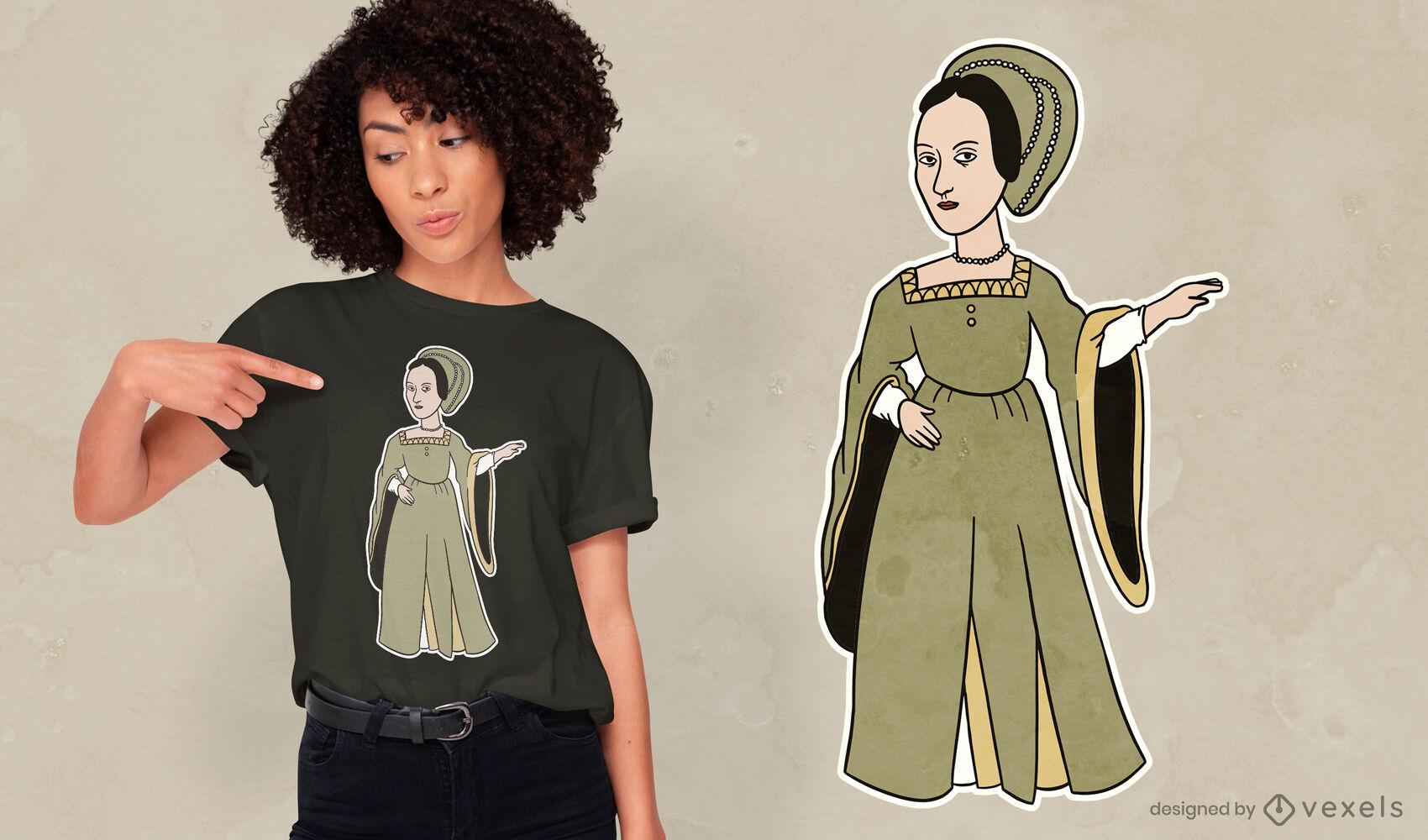 Anne Boleyn England queen t-shirt design