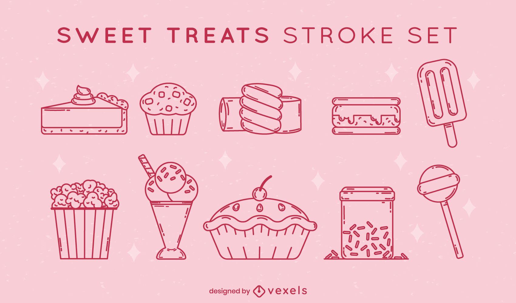 Sweet treats stroke set