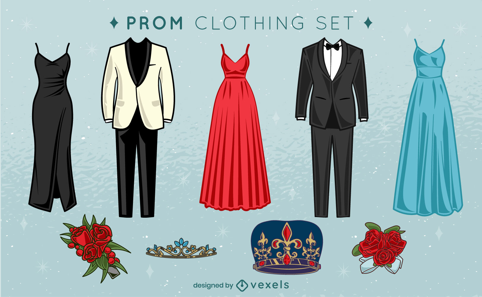 Prom night party clothing set