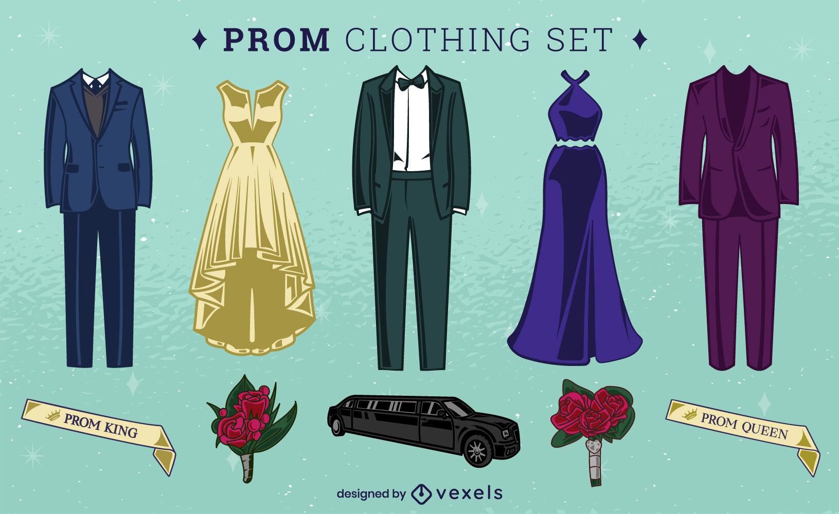 Prom dance clothing set