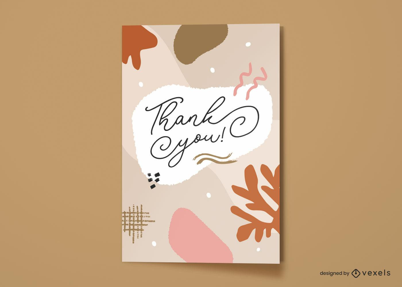 Gracias dise?o abstracto de la tarjeta de felicitaci?n