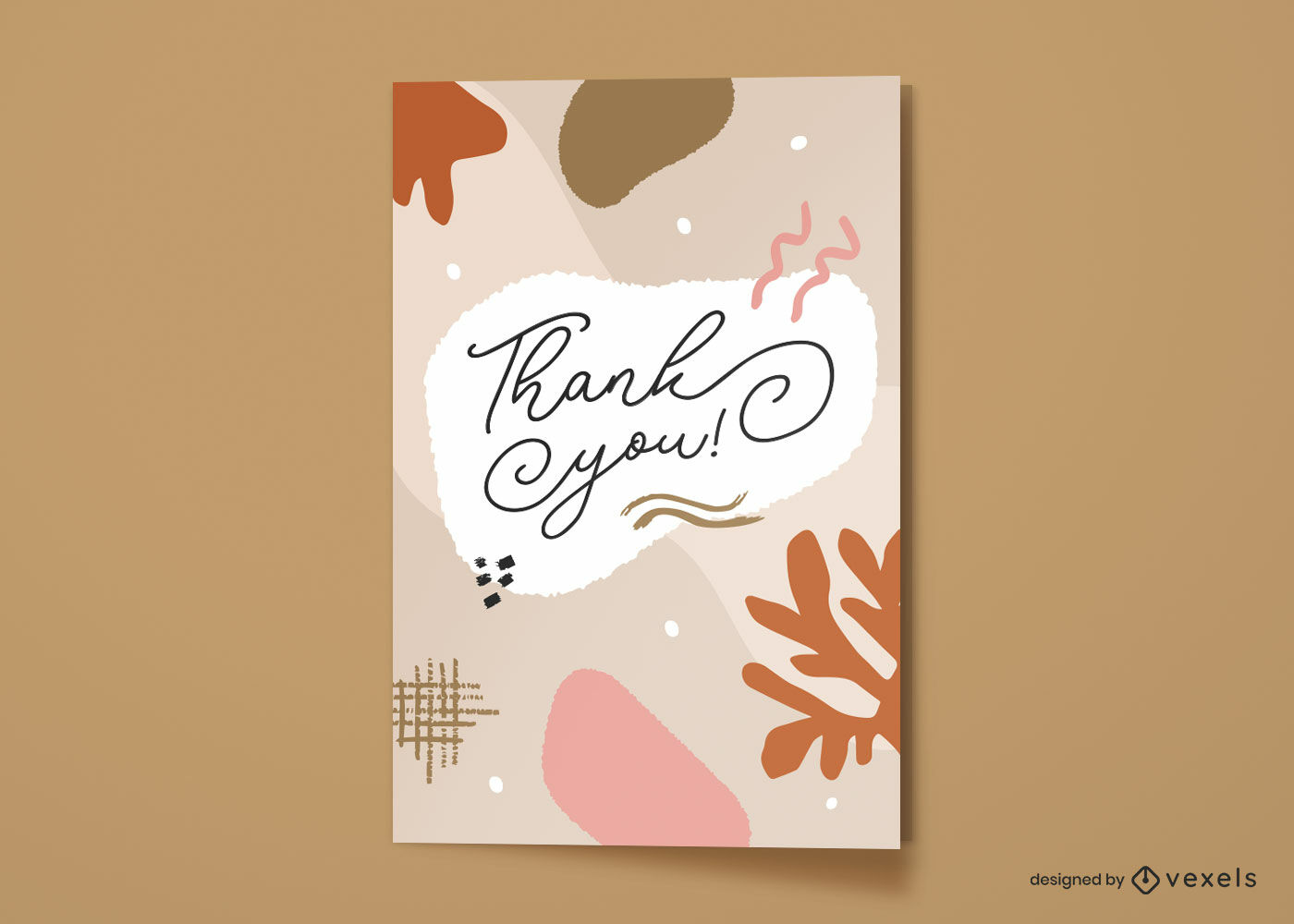 Thank you greeting card abstract design