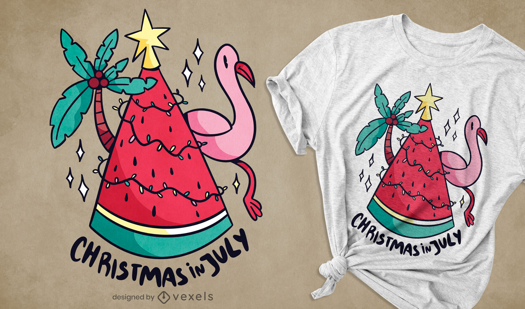 Christmas in july t-shirt design