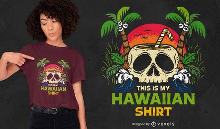Este es mi diseño de camiseta hawaiana