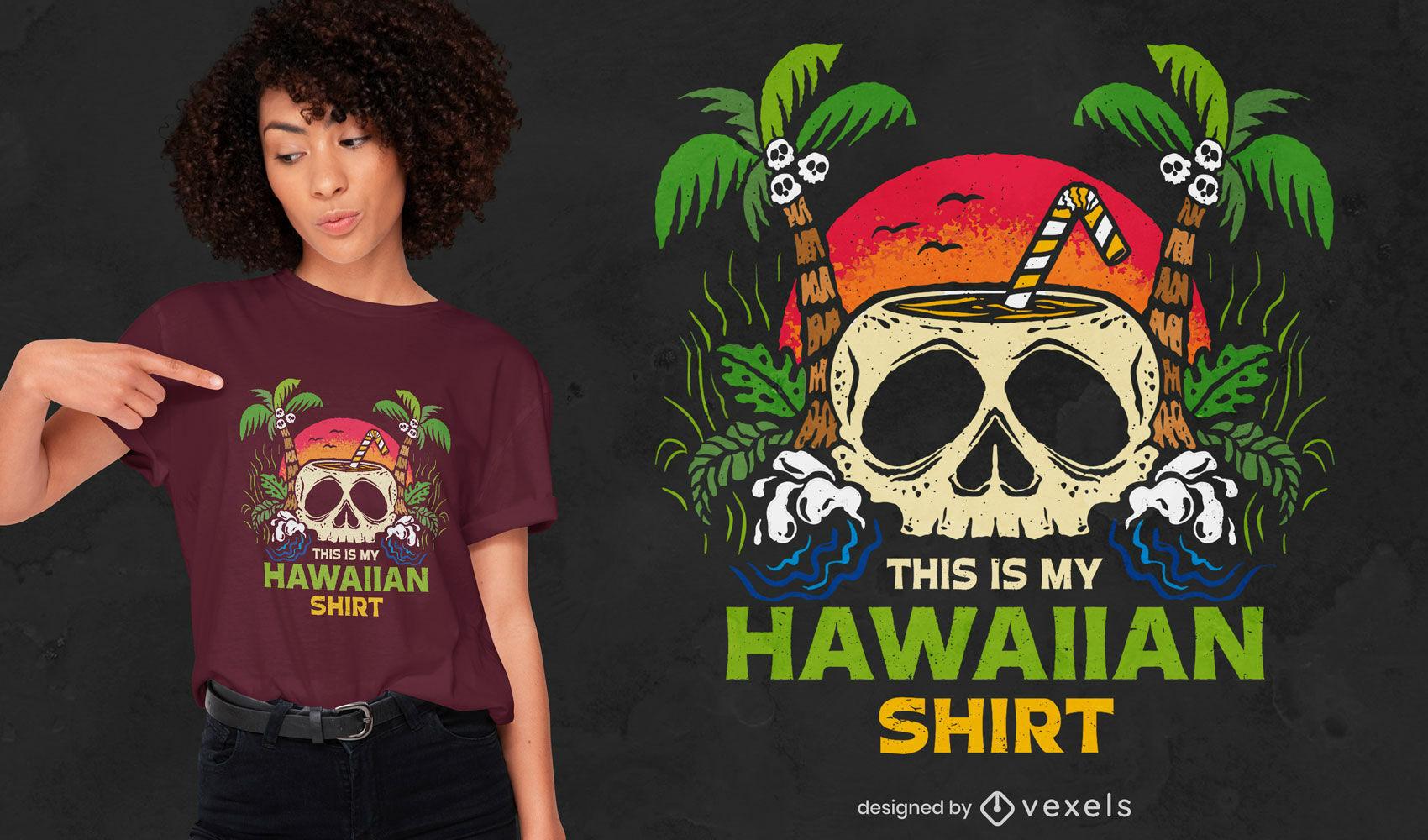 Este é o design da minha camiseta havaiana