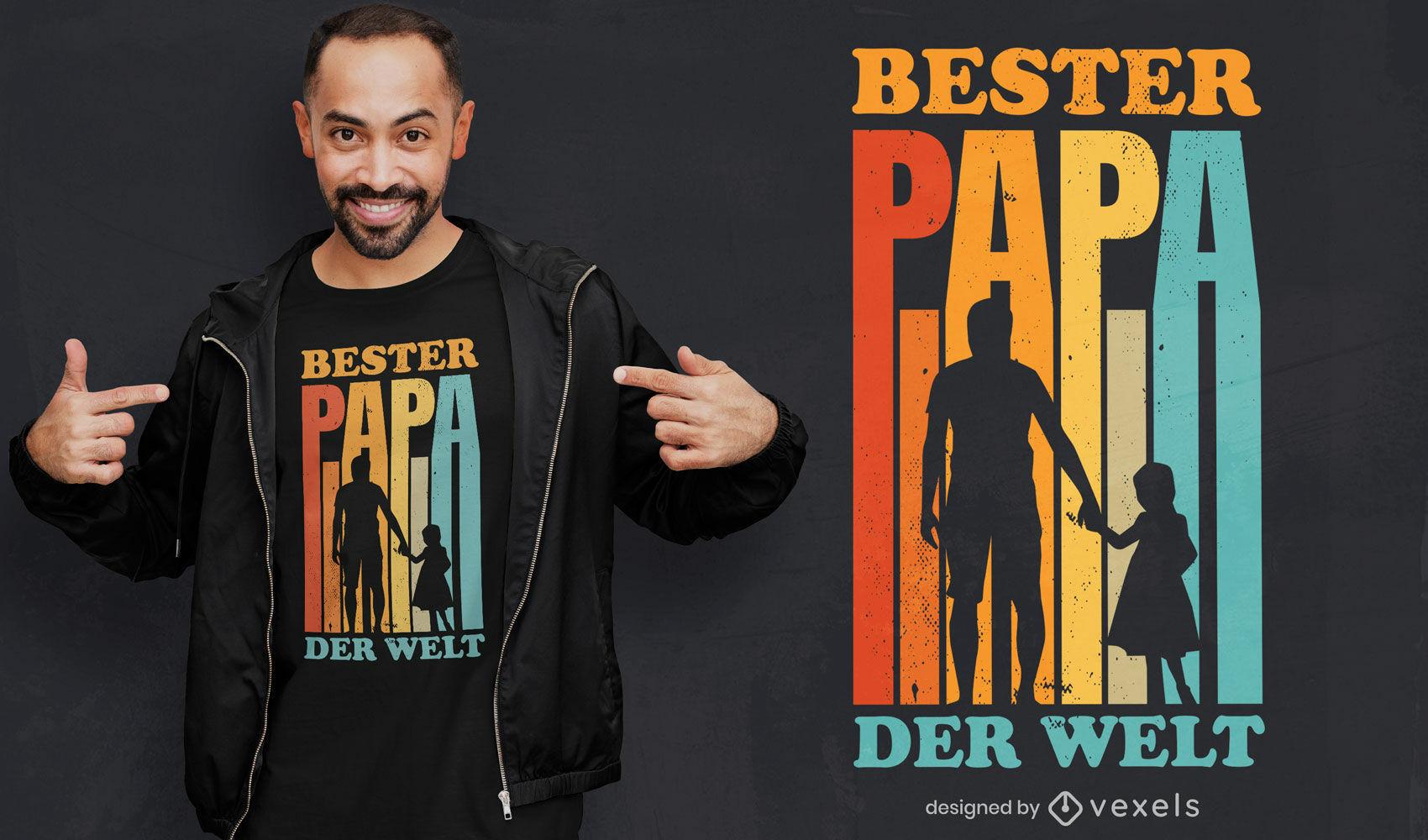Best dad ever quote retro t-shirt design