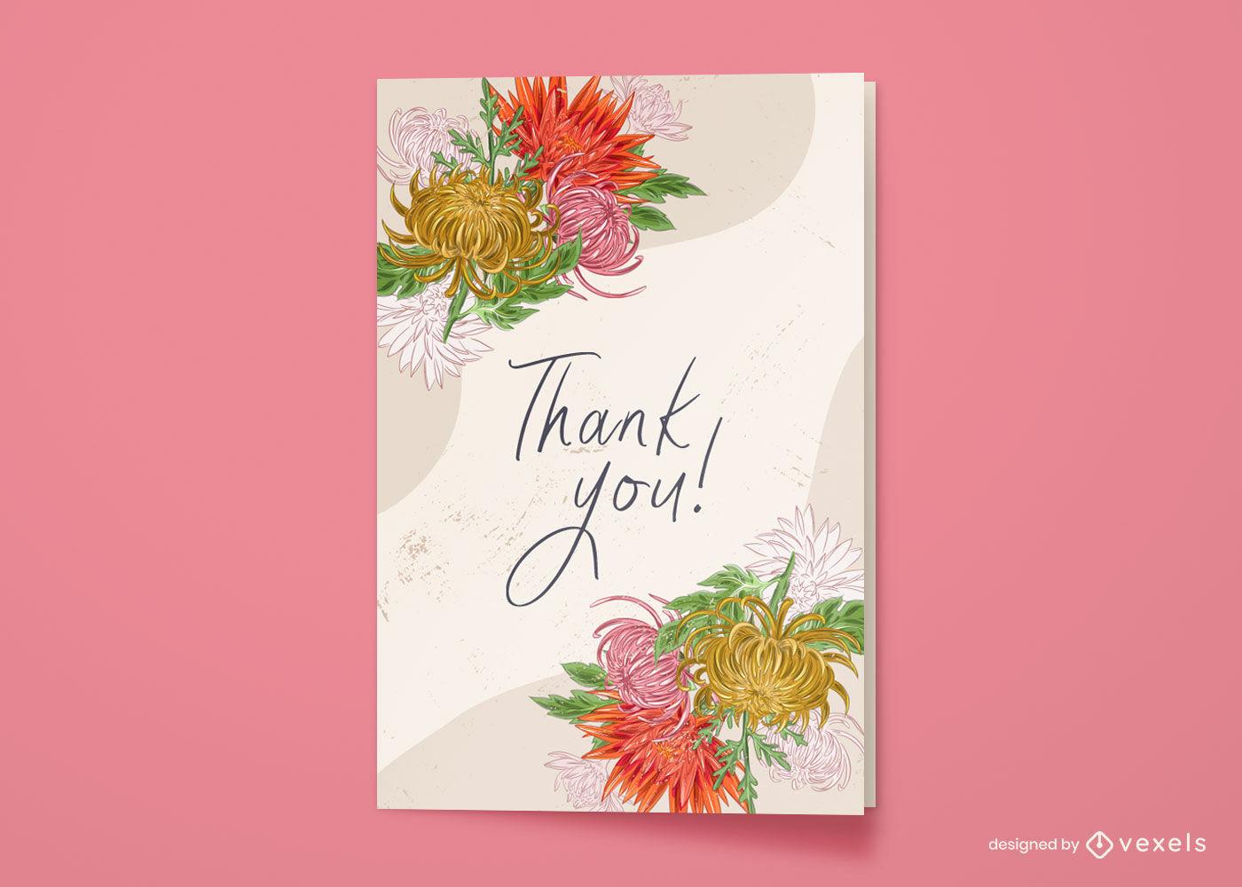Flores naturaleza diseño de tarjetas de felicitación