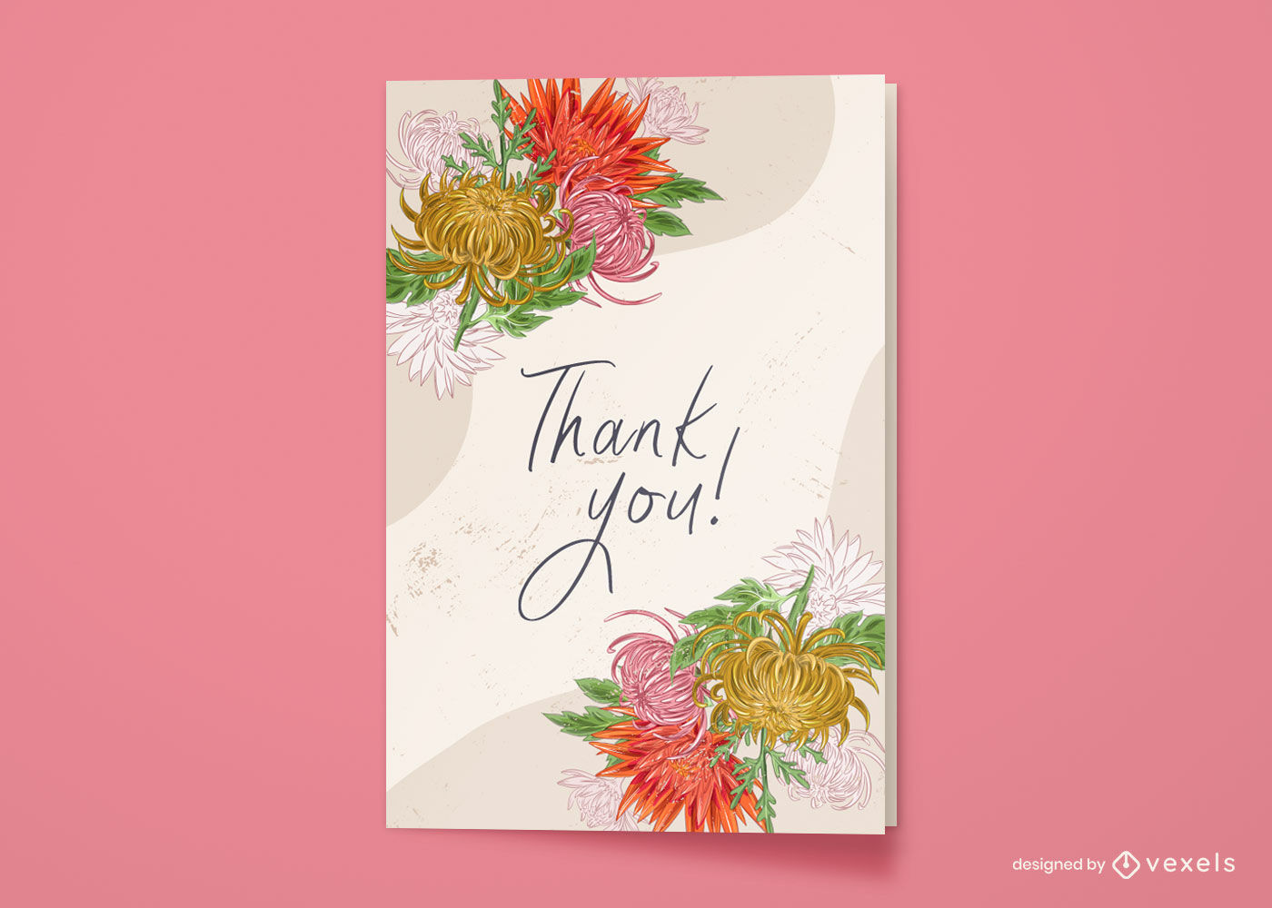 Flowers nature greeting card design