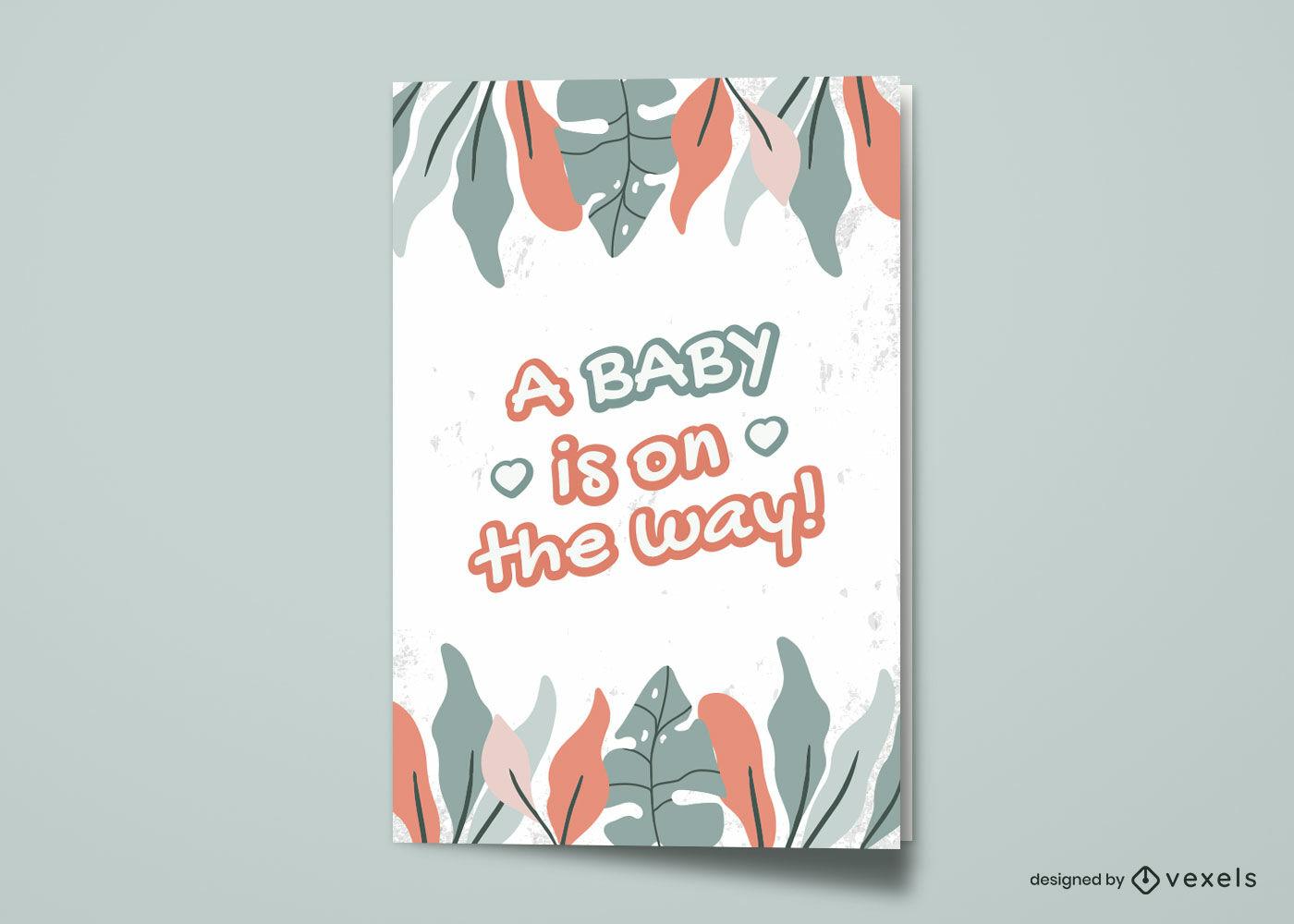 Nuevo diseño de tarjeta de felicitación de naturaleza bebé