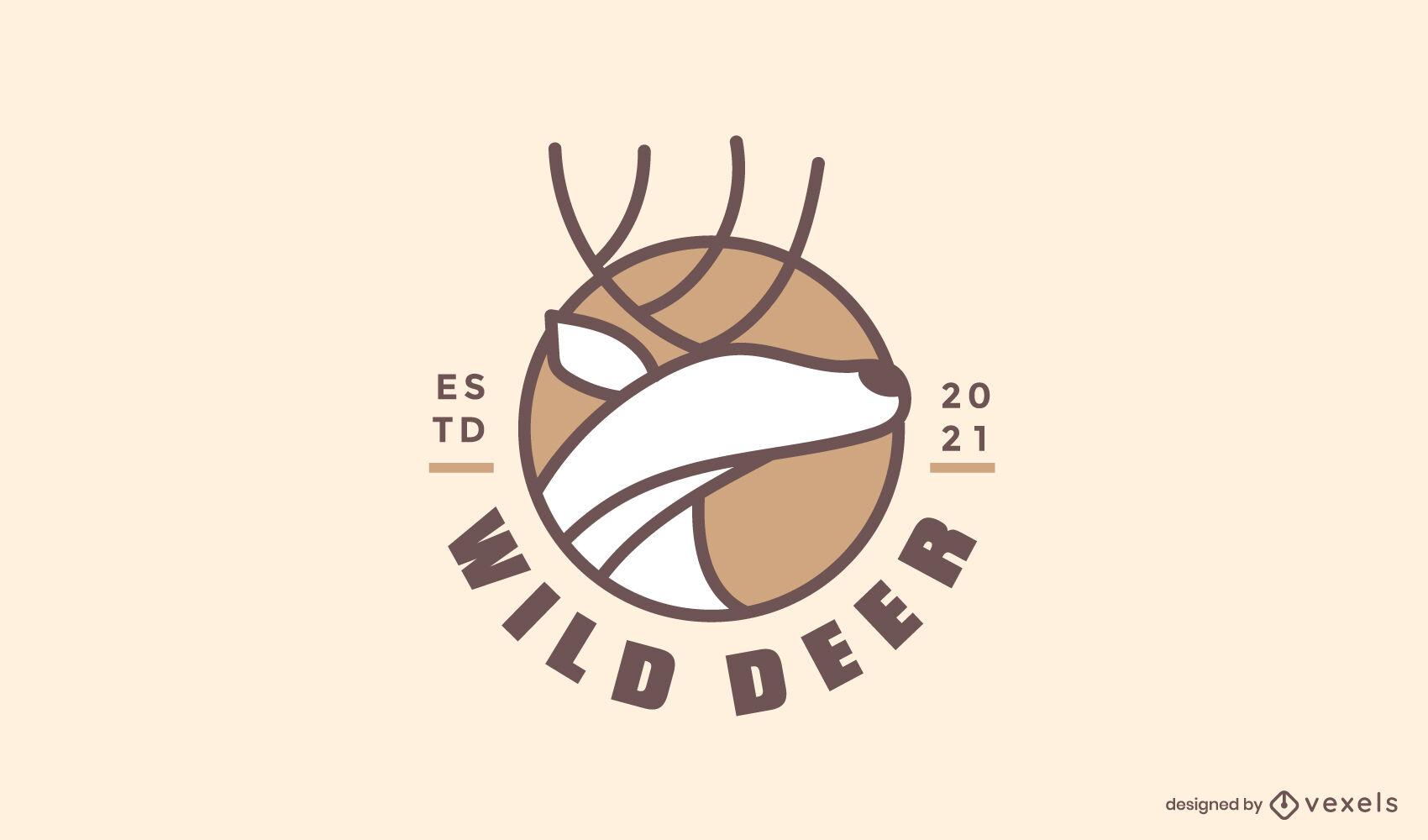 Wild deer logo template