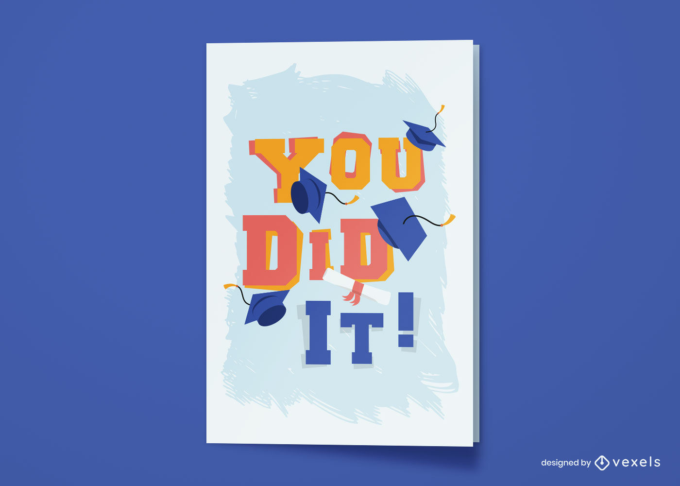 Diseño de tarjetas de felicitación de graduación