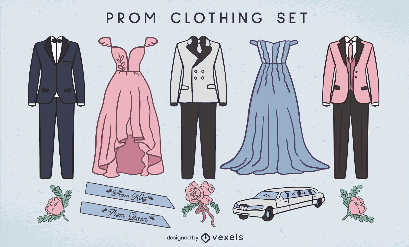 Formal attire prom party celebration set