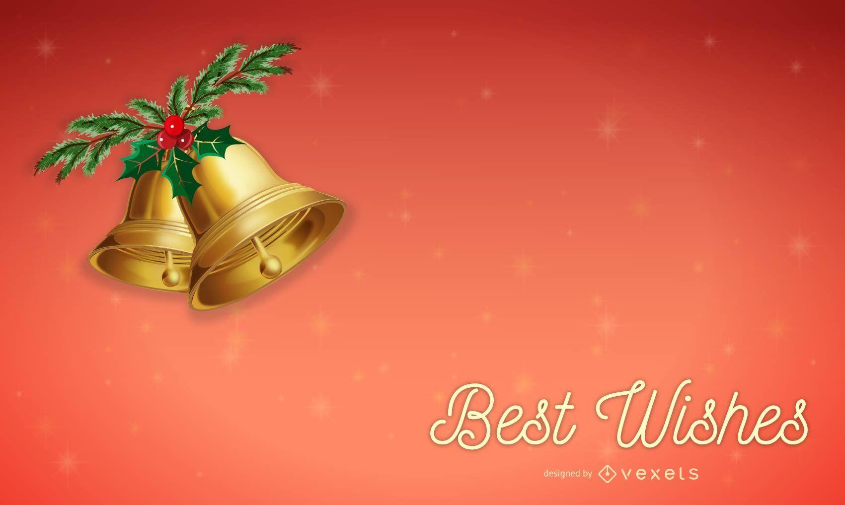 Vector de tarjetas de mejores deseos de Navidad