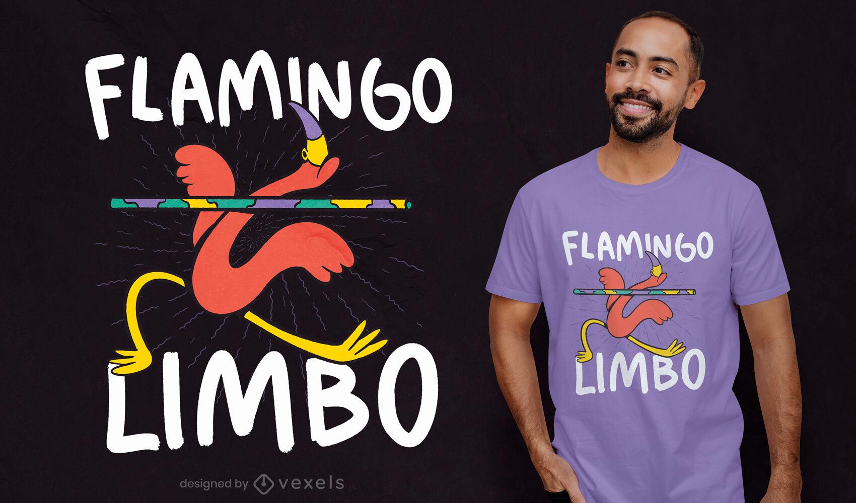 Flamingo limbo dance t-shirt design