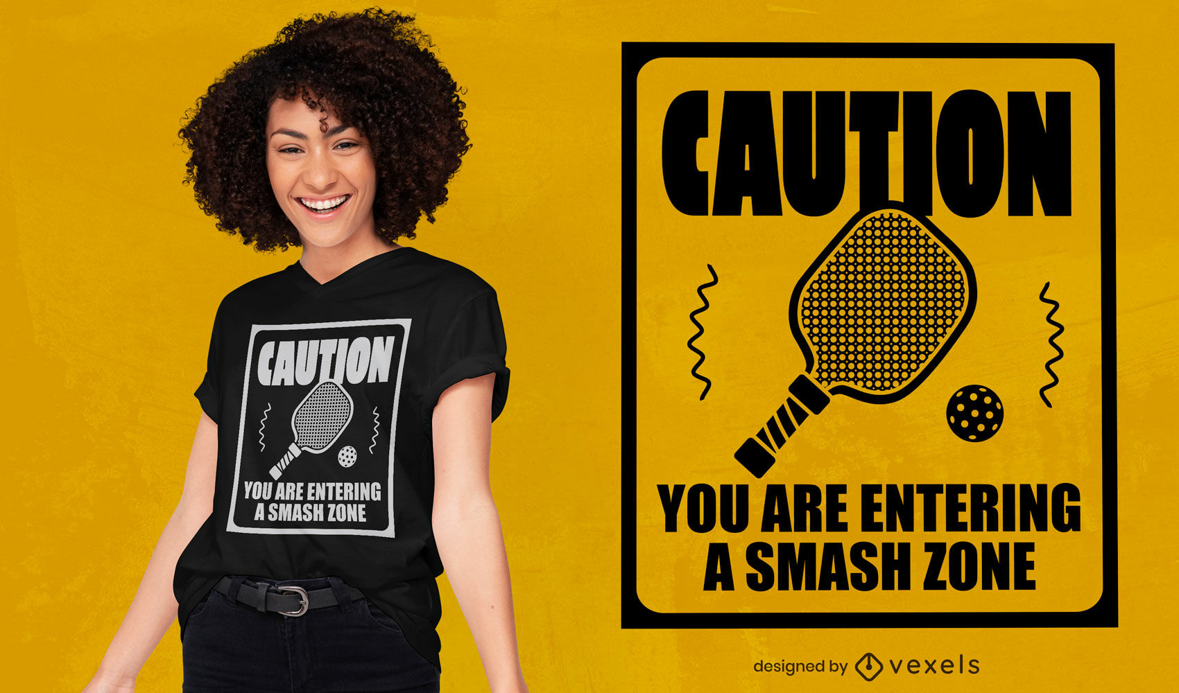Diseño de camiseta de raqueta deportiva pickleball.